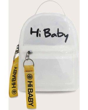 Letter Graphic Transparent Backpack