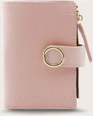 Stitch Zipper Detail Fold Over Purse