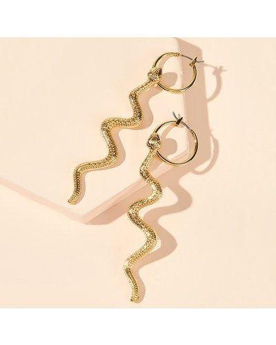 Serpentine Hoop Earrings 1pair