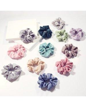 12pcs Solid Scrunchie