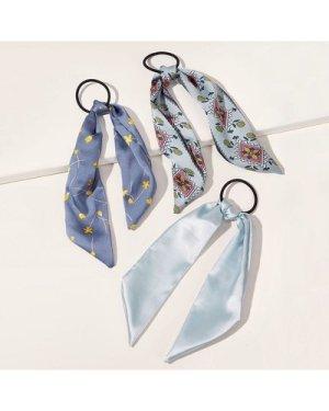 3pcs Ditsy Floral Pattern Hair Tie