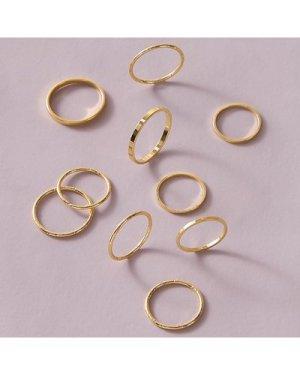 10pcs Simple Ring Set