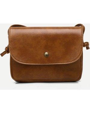 Solid Flap Crossbody Bag