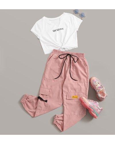 Destiny Graphic Tee & Cargo Pants Set