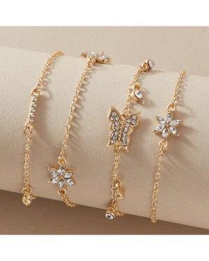 4pcs Butterfly Design Bracelet