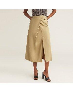 PREMIUM Pocket Detail Split Hem Skirt