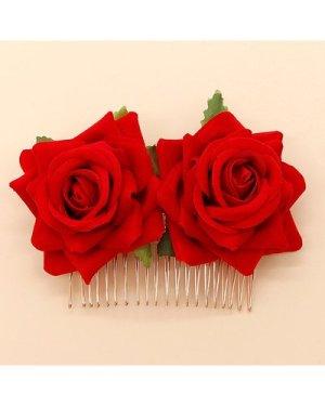 Rose Decor Hair Pin