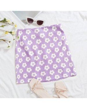 Zip Back Floral Skirt
