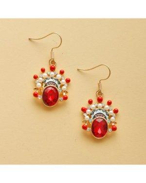 Peking Opera Design Drop Earrings