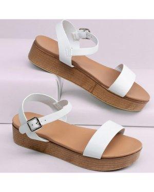 Open Toe Ankle Strap Platform Gladiator Sandals