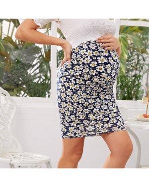 Katy Perry's Picks Maternity Daisy Print High Waist Bodycon Skirt