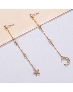 Star Long Drop Earrings