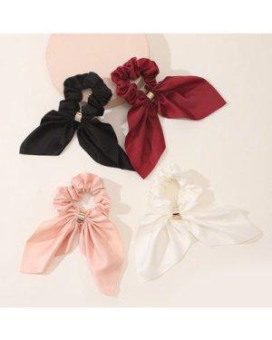4pcs Bow Knot Decor Scrunchie
