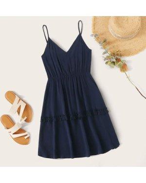 Plus Frill Trim Slip Dress