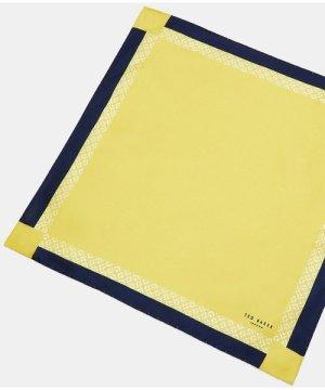 Contrast Border Silk Pocket Square