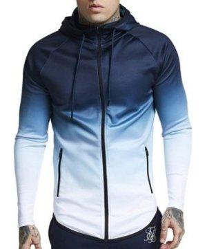 Drawstring Raglan Sleeve Zip Pockets Hoodie