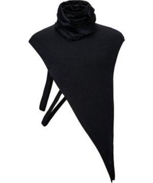 Turtleneck Cutout Slit Asymmetrical Waistcoat