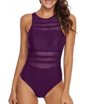 Mesh Panel See Thru Cutout One-piece Swimsuit