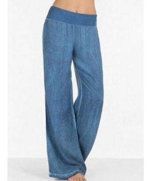 High Waisted Wide Leg Casual Pants