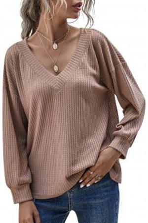 V Neck Honeycomb Knitwear