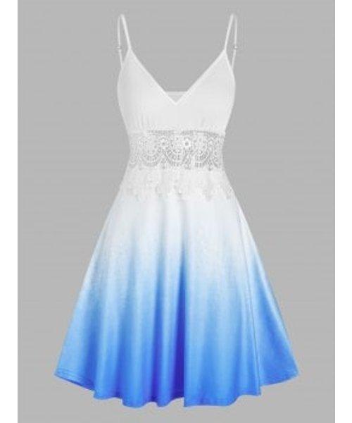 Lace Crochet Ombre Cami Dress