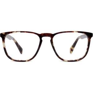 Vaughan Eyeglasses in Burnt Lemon Tortoise Non-Rx