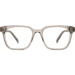 Hughes Wide eyeglasses in smoky quartz crystal Non-Rx