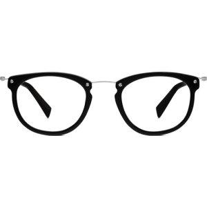 Moriarty Eyeglasses in Jet Black Matte Non-Rx