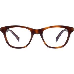 Greenleaf Eyeglasses in Woodgrain Tortoise Non-Rx