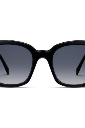 Aubrey Narrow sunglasses in Jet Black (Non-Rx)
