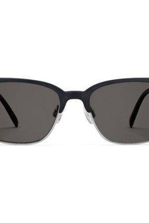 Lewis sunglasses in  Black Matte with Silver (Non-Rx)