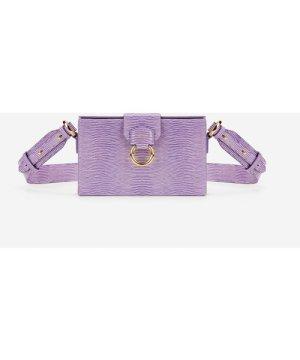 Grace Box Bag - Purple Lizard