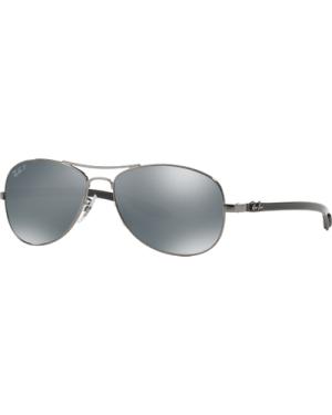 Ray-Ban RB8301 004/K6 Shiny Gunmetal/Polarised Blue Silver Mirror