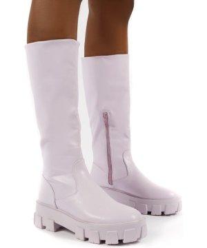 Karma Lilac Chunky Sole Knee High Boot - US 6
