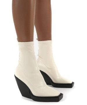 Rae Bone Block Heel Square Toe Ankle Boot - US 7