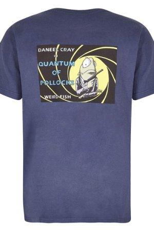Weird Fish Quantum Pollocks Artist T-Shirt Blue Indigo Size XL