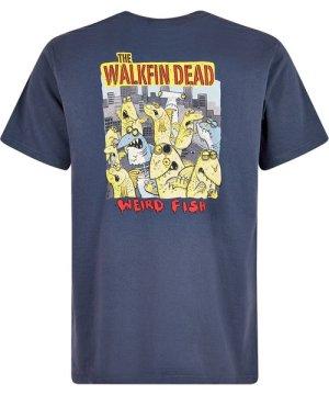 Weird Fish Walkfin Dead Artist T-Shirt Navy Size 5XL