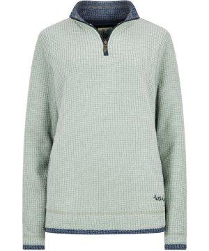 Weird Fish Beyonce Grid Fleece Sweatshirt Silver Sage Size 22