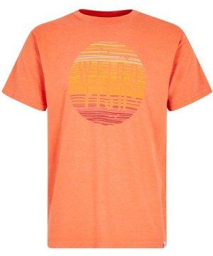 Weird Fish Sunset Graphic T-Shirt Orangeade Size L