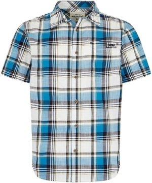 Weird Fish Modbury Short Sleeve Checkered Shirt Blue Wash Size 4XL