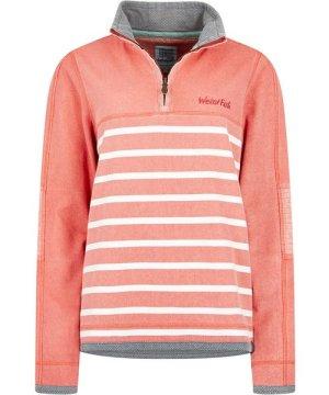 Weird Fish Lono 1/4 Zip Striped Pique Sweatshirt Bubblegum Size 20