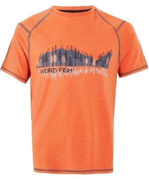 Weird Fish Alastor Printed Bamboo T-Shirt Orangeade Size 5XL