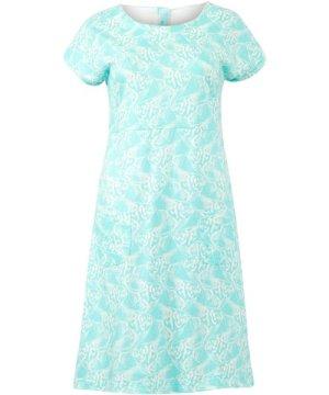 Weird Fish Tallahassee Patterned Jersey Dress Spearmint Size 22