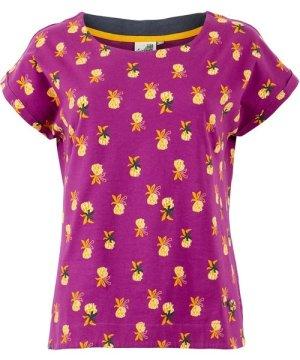 Weird Fish Paw Paw Patterned Jersey T-Shirt Purple Wine Size 22