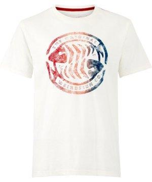 Weird Fish Summer Surf Graphic T-Shirt Marshmallow Size M