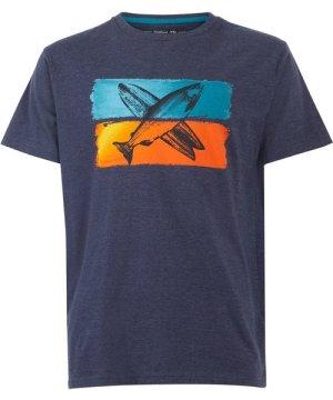 Weird Fish Fish Surf Graphic T-Shirt Navy Size L