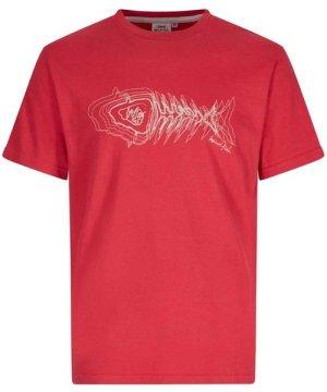 Weird Fish Scribble Branded T-Shirt Chilli Pepper Size XL
