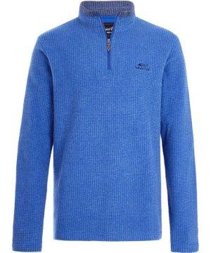 Weird Fish Newark 1/4 Zip Grid Fleece True Blue Size XL