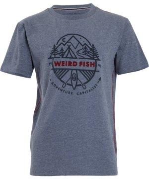 Weird Fish Adventure T-Shirt Blue Mirage Size 3XL