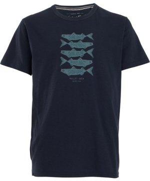 Weird Fish Mullet Over Organic Cotton T-Shirt Navy Size XL
